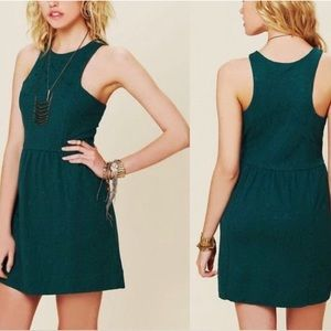 Free People teal green dress